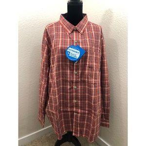 BNWT Columbia Plaid Button Down Long Sleeve Shirt